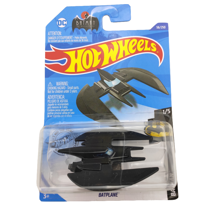 2020-56 Hot Wheels 1:64 Car BATPLANE Metal Diecast Model Car Kids Toys Gift