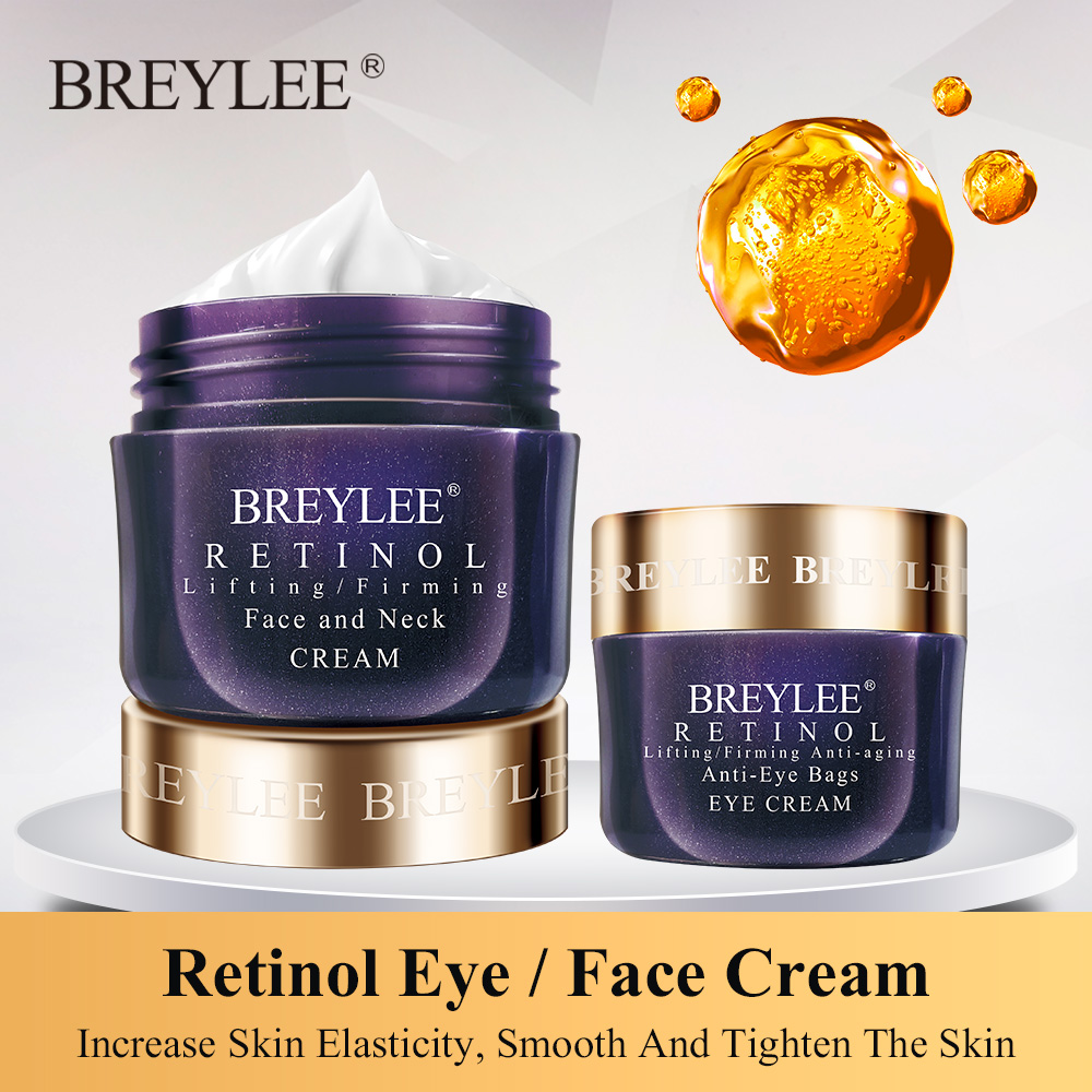 Breylee Retinol Firming Face Cream Lifting Anti-aging Remove Wrinkles Night Day Cream Moisturizing Facial Serum Facial Skin Care