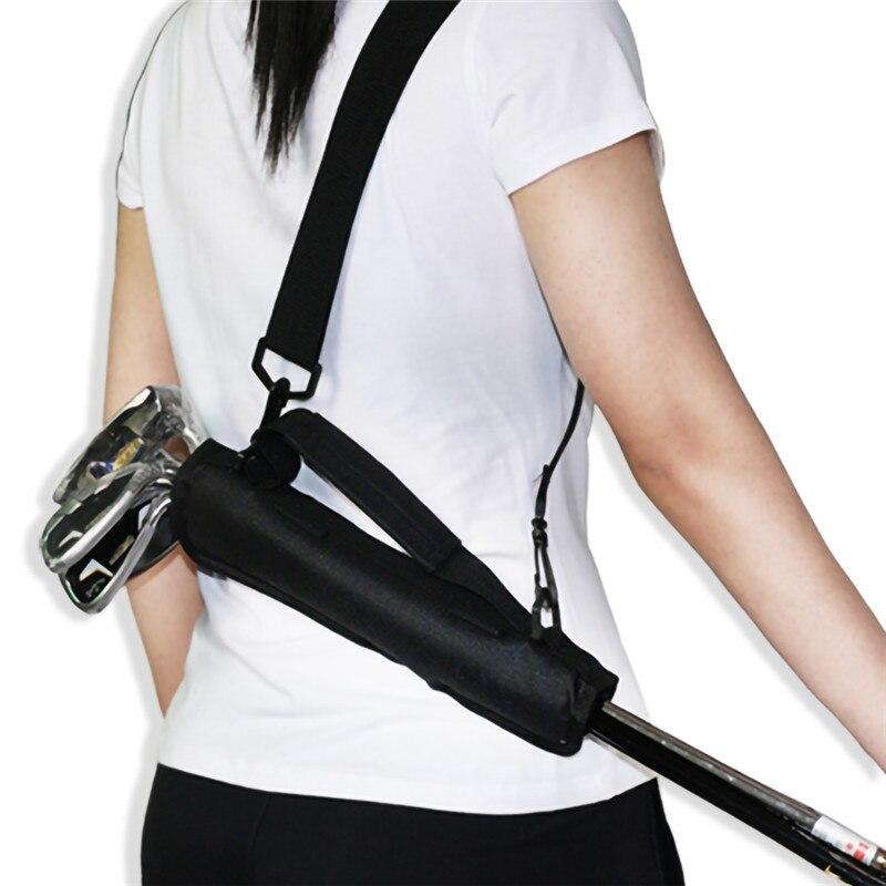 Golf Club Carrier Driving Range Gfit Black Travel Bag  For Children Men Women