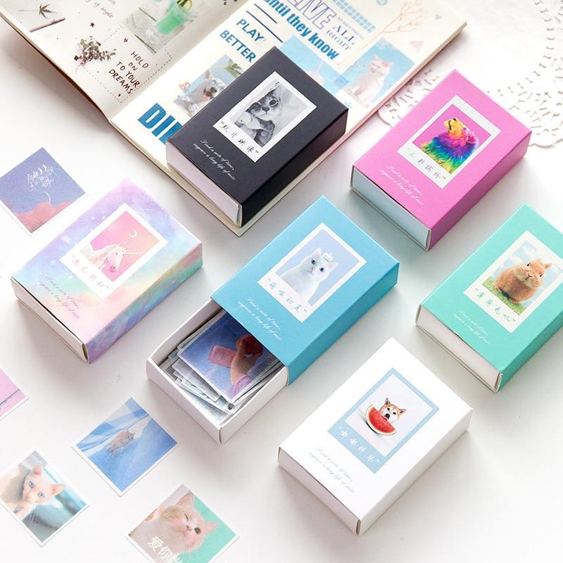 120pcs Colorful cute font b pet b font series Bullet Journal Decorative Washi Stickers Scrapbooking Stick