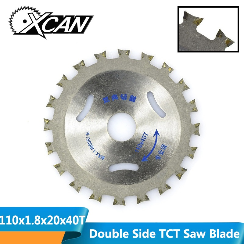 XCAN Diameter 110x1.8x20mm 40T Double Side Tipped TCT Circular Saw Blade Multipurpose Cutting Disc Wood Saw Blade