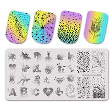 Stainless Steel Nail Stamping Plates Stencil ABC Dot Rose Heart Fantasy Starts Nail Art Stamping Plate Diamond Print Templates