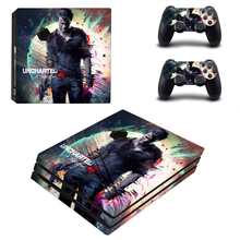 Uncharted 4: A Thief's End Style Skin Sticker for PS4 Pro Console And Controllers Decal Vinyl Skins Cover YSP4P-3365