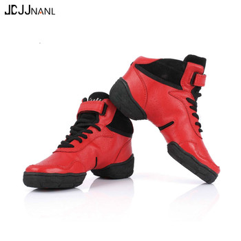 Cowhide Dancing Shoes for Women/Men Sneakers Dance Shoes Genuine Leather Modern Jazz Men Leather Sneakers Women Plus size 27.5cm фото