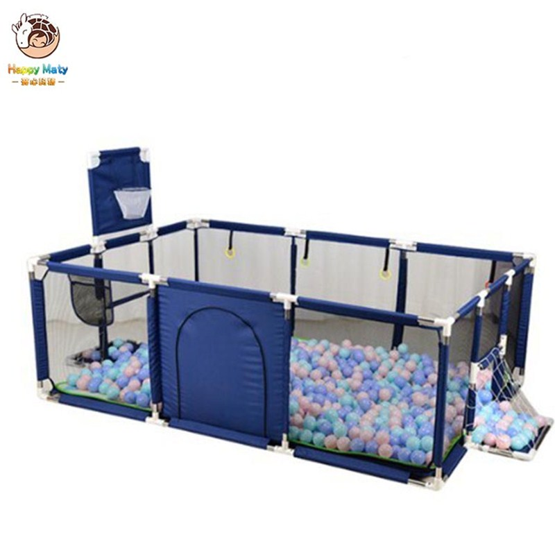 Happymaty Baby Playpen Fence Safety Barrier Kids Ocean Ball Pool   Fence Tent With Basketball Hoop Newborn Fence Playpen F03