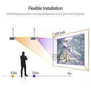 Image 5 - Aun Mini Projector D60, 2800 Lumen 1280X720P, Led Proyector Voor 1080P Home Cinema, optioneel D60S Android Wifi 3D Video Beamer.