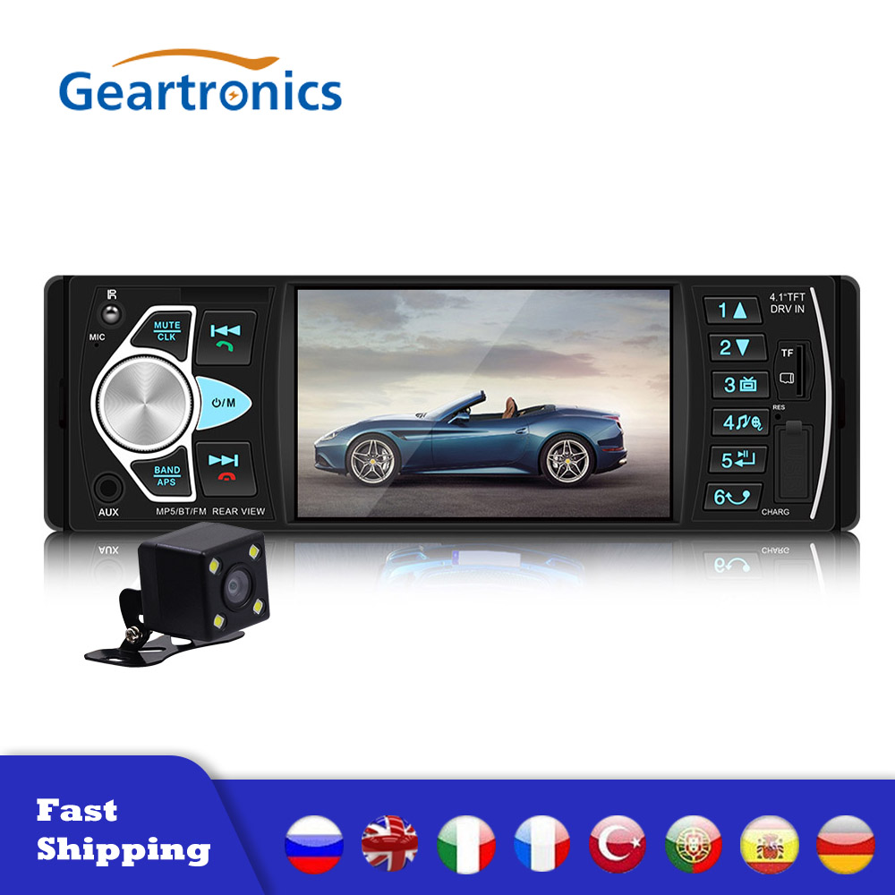 4.1 Inch HD Large Screen Hands-free 4022D Car Stereo Navi RDS AM FM 1Din Radio Black Car Electronics Bluetooth Car MP5 Player image