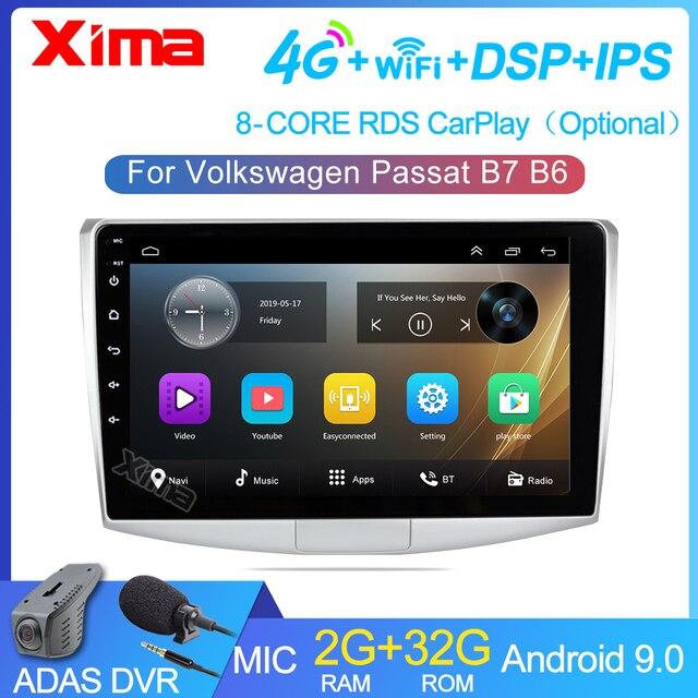 XIMAรถวิทยุAndroid 2GB Ram Multimdia Autoradio GPSสำหรับVW/Volkswagen/Magotan/Passat B6 b7ไม่มี2dinกล้องDVR