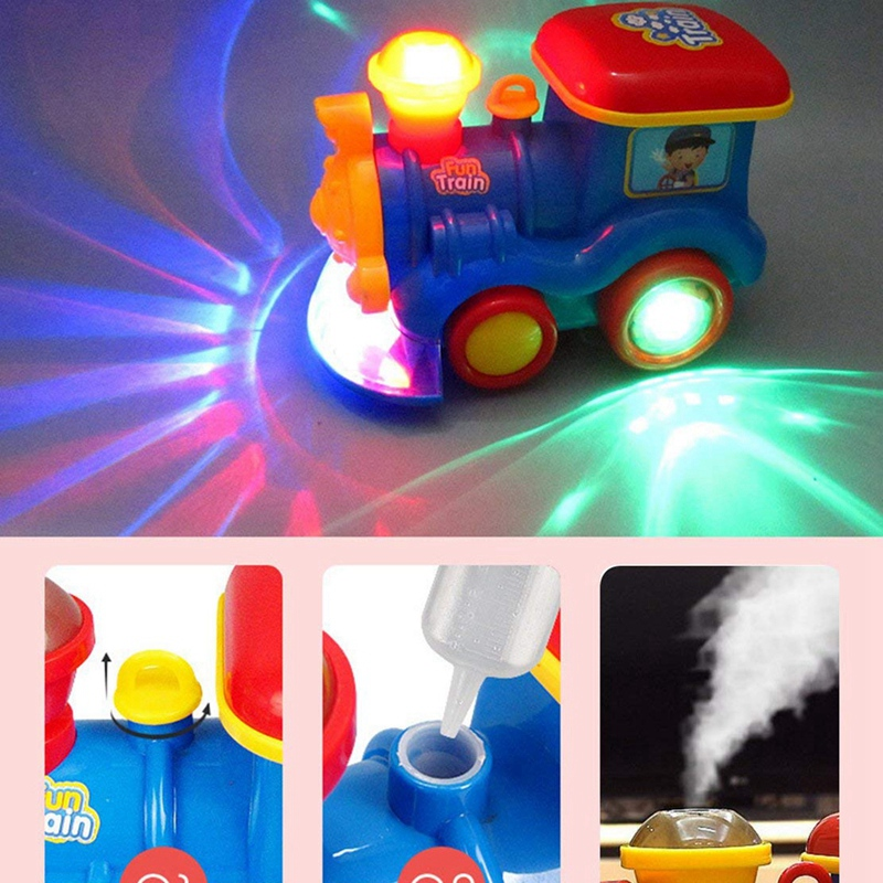 Go Steam Train Locomotive For Kids - Classic Battery Operated Toy Engine Car With Smoke, Lights And Sound (Realistic Water Vapor