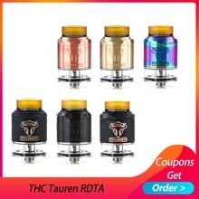 цена на THC Tauren RDTA tank Double 28 micro air holes atomizer vape leak proof Rebuildable THC atomizer Fit for E Cigarette box mod