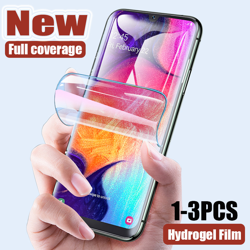 New Hydrogel Film For Samsung Galaxy A50 A30 A20 A70 A40 M10 A80 A90 S A10 E Screen Protector ForA71 A51 A01 A20e Film Not Glass