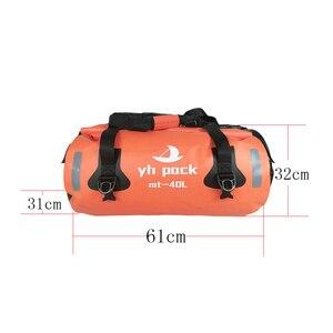 Image 4 - Motorcycle Travel Dry Bag Waterproof duffle Bag 40L/66L/80L /90L/Motorbike Moto Luggage Motorcycle Rear Seat Tail Bag