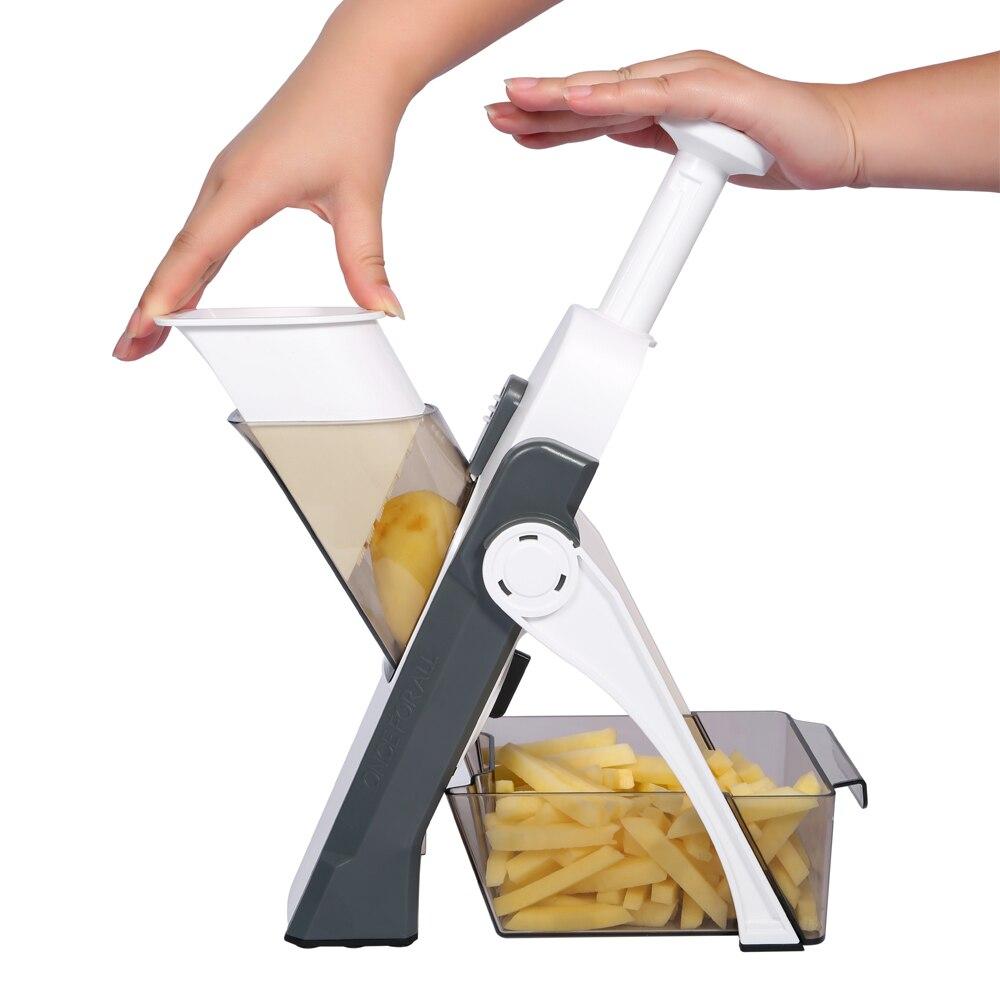 Kitchen Accessories Mandoline Slicer, ONCE FOR ALL. Vegetable Slice, Food Chopper, Cutter, Dicer Fruit, French Fry, Julinner