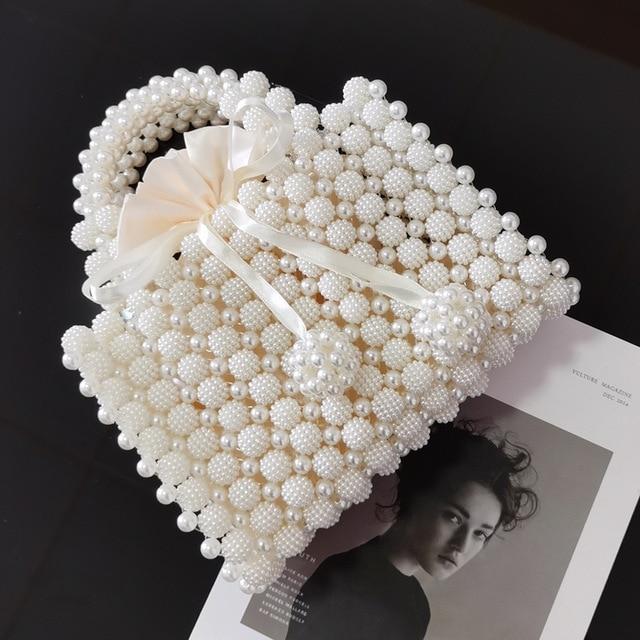 Pearl Beaded Women's Mini Handbag  5