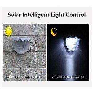 1-4 шт., 6 светодиодный светильник на солнечной батарее с датчиком движения, водонепроницаемый уличный садовый светильник s, аварийный светил...