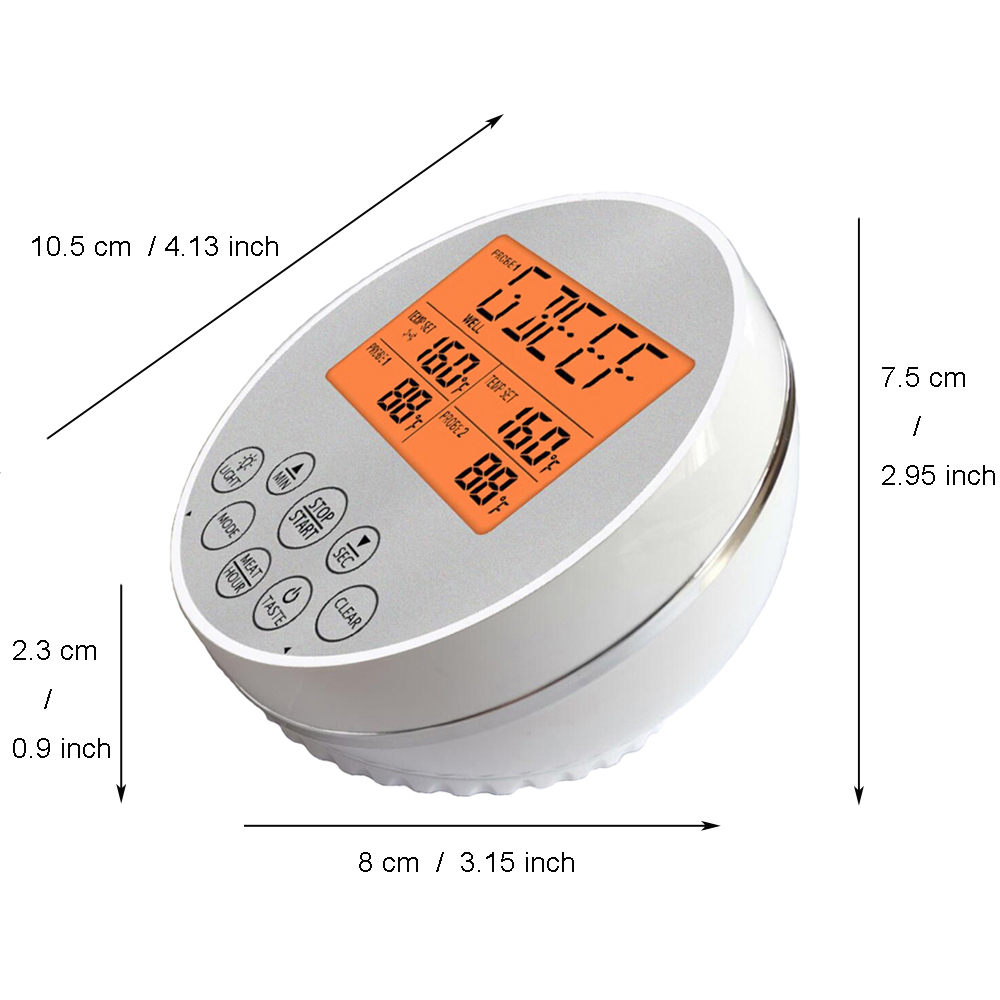 Digital Wireless Food Thermometer for Cooked Food and Grilled Meat with Timer and Temperature Alarm 16