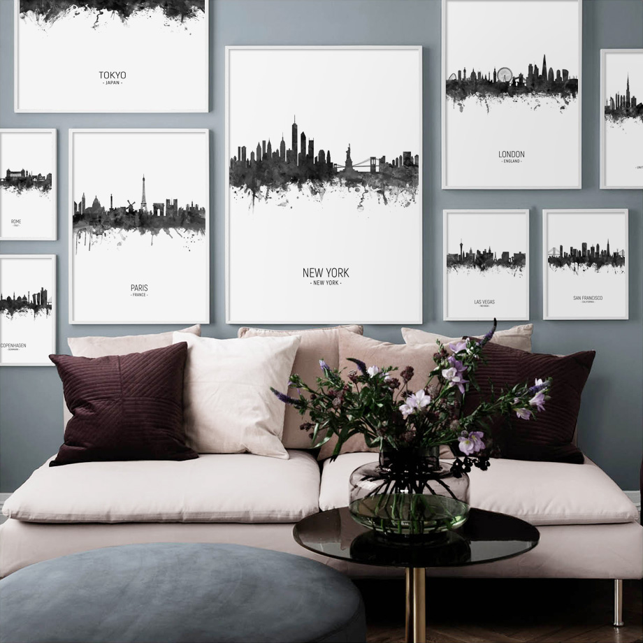 Rome London Tokyo New York Paris City Map Travel Wall Art Canvas Painting Nordic Posters And Prints Wall Pictures Living Room