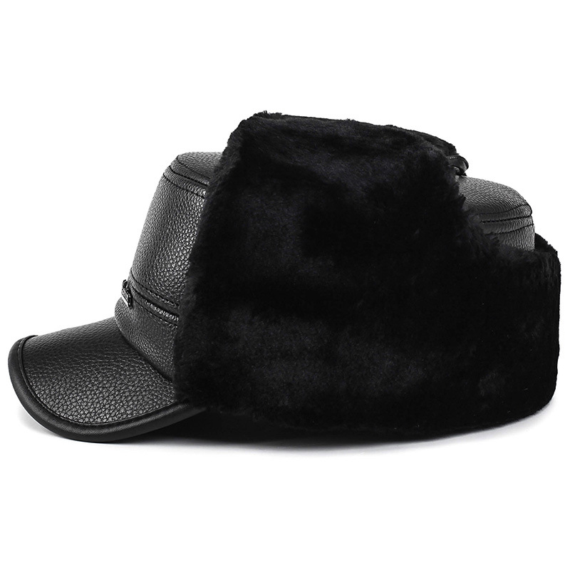 Winter Hat Ushanka Cold-Hat Korean-Style Outdoor Thick Warm Men Men's Middle-Aged Dad