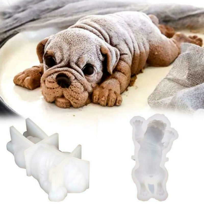 Shar Pei Dog Baking Mould Silicone Party Supplies Dessert Cake Decorating Tools Food Cake Fondant Mould Candy Cookie DIY Tool