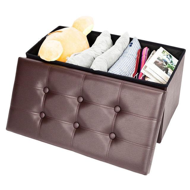 Ottoman Leather Storage Box  2