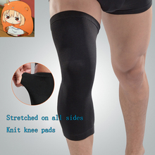 Four-sided nylon knit knee pads, anti-collision, men and women fitness, running, breathable, warm, cold, long protection