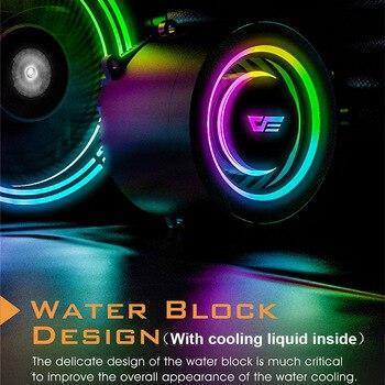 Darkflash-carcasa de PC, Enfriador de agua líquida, AIO, ventilador de enfriamiento PWM RGB, sincronización de agua, CPU para LGA 2011/115X/2066/AM4/AM3 + 3