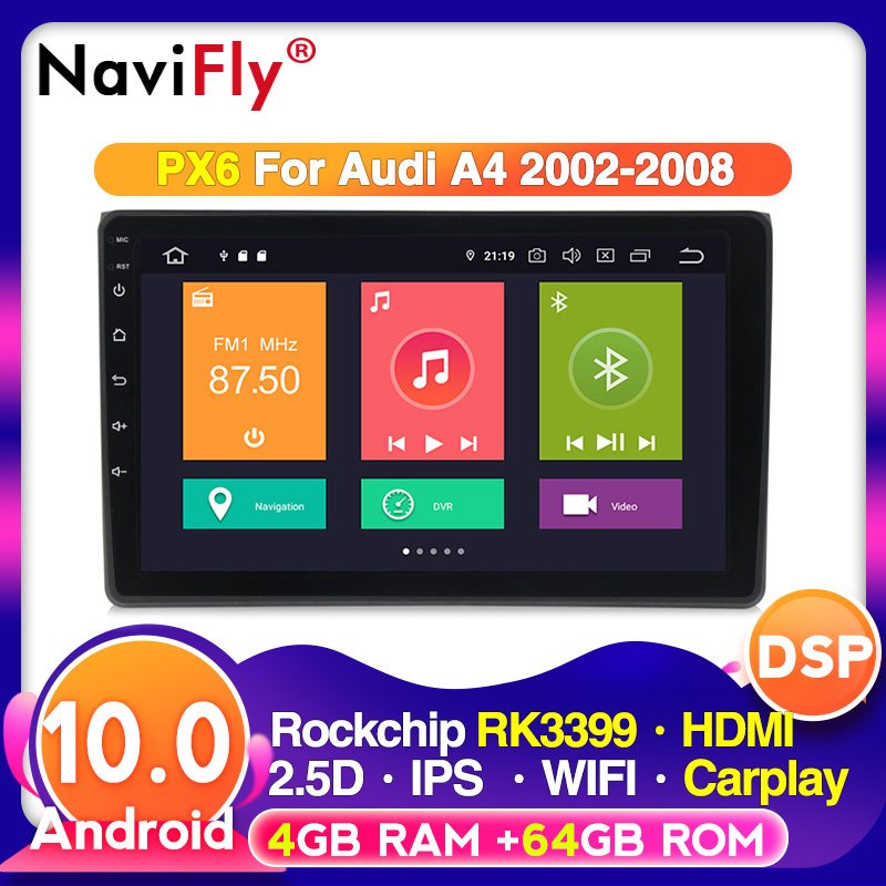 Android 10 4G in Dash Car Radio Multimedia Video Player Navigation GPS For Audi A4 2 3 B6 B7 2000 2009 S4 RS4|Car Multimedia Player| - AliExpress