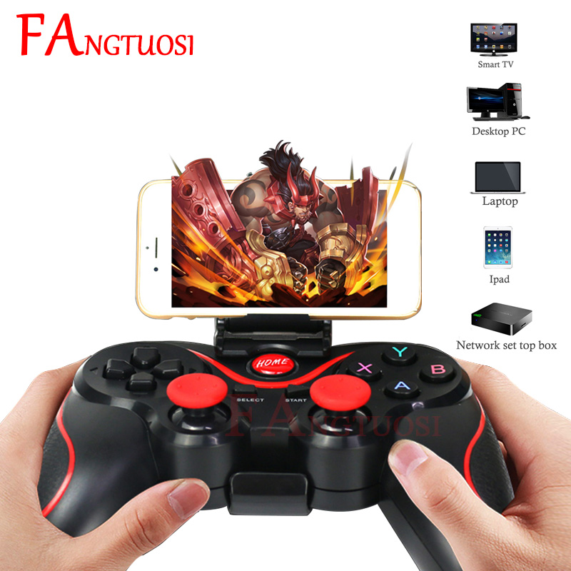 FANGTUOSI T3 X3 Wireless Joystick Gamepad Game Controller Bluetooth BT3.0 Joystick For Mobile Phone Tablet TV Box Holder