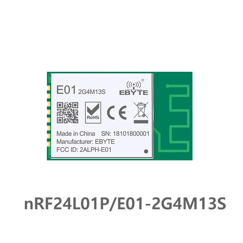 E01-2G4M13S nRF24L01 PA LNA 2.4 ghz 20mW Wireless Transceiver 2.4GHz nRF24L01P PCB Antenna rf Transmitter and Receiver image