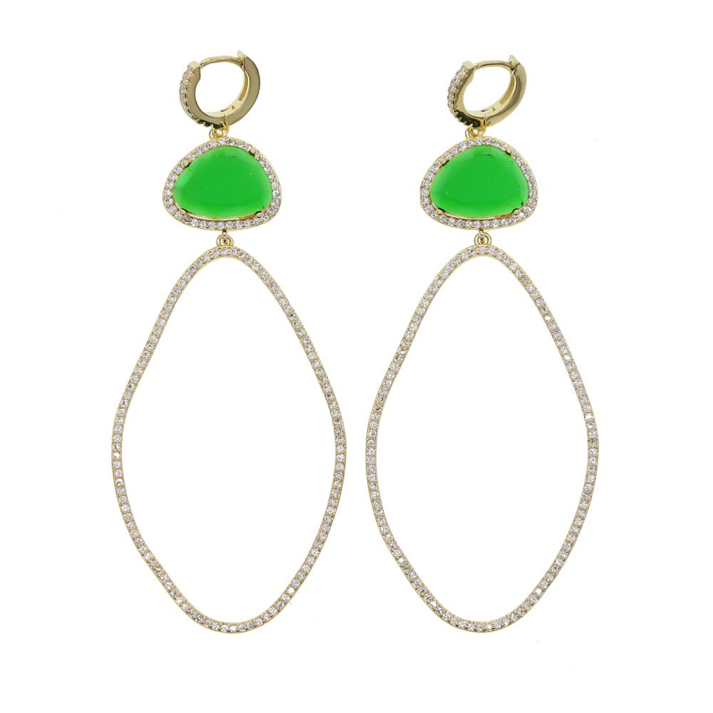 BRASS drop earring Y (11)