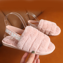2020 New Summer Autumn Winter Home Cotton Plush Slippers Women Indoor\ Floor Flat Shoes Women's Slippers Open Toe Flat Slides fayuekey sweet spring summer autumn winter home fashion plush slippers women indoor floor flip flops for girls gift flat shoes