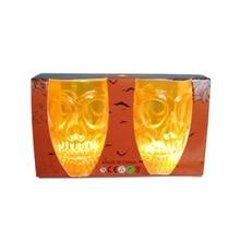 2pcs Halloween Skull Wine Glass Bar Ktv Supplies Props Ghost Head Wine Glass With Led Light New