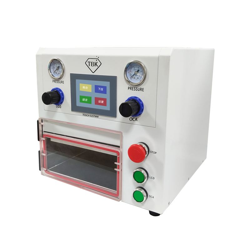 TBK OCA Lamination Machine 108P Vacuum Laminating Machine For Fat Curved Straight And Tablet LCD Screens