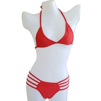 Red Bikini Spider Bottom Biquini Beach Bathers Sexy Hollow Bathing Suits Wild Women Lingerie Swimsuit Mini Bikini Swimwear