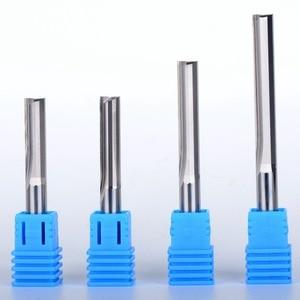 Image 1 - 50 個 6 ミリメートル 2 フルートストレートのルータービット CNC ストレート彫刻カッター超硬エンドミル工具フライスカッター