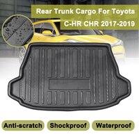 Für Toyota C HR CHR 2017 2018 2019 + Cargo Floor Fach Teppich Schlamm Pad Boot Mat Hinten Stamm Liner Kick schutzfolie wasserdicht-in Fußmatten aus Kraftfahrzeuge und Motorräder bei