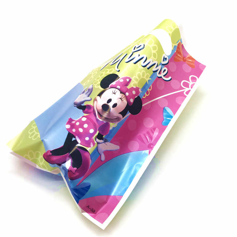 Disney Dot สีชมพู Minnie Mouse Theme PARTY Supplies กระดาษถ้วยหมวกหลอดของขวัญกระเป๋าเด็กผู้หญิงวันเกิดเด็กตกแต่งห้องอาบน้ำ