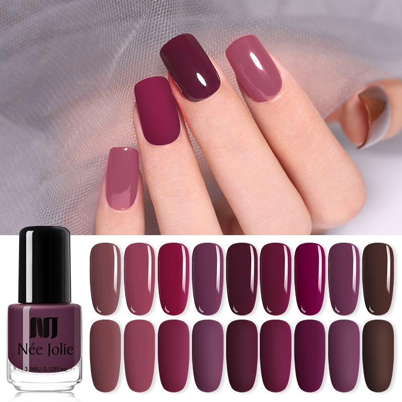 NEE JOLIE 73 Colors Nail Art Polish Varnish Solid Color DIY Designs Nail Polish  Long Lasting Nail Art Decoration 3.5ML