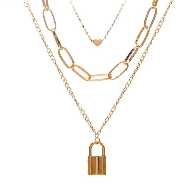 Boho Münze Layered Halskette Für Frauen Mode Kette Lange Choker Kragen Vintage Gold Metall Dame Anhänger Halsketten Schmuck