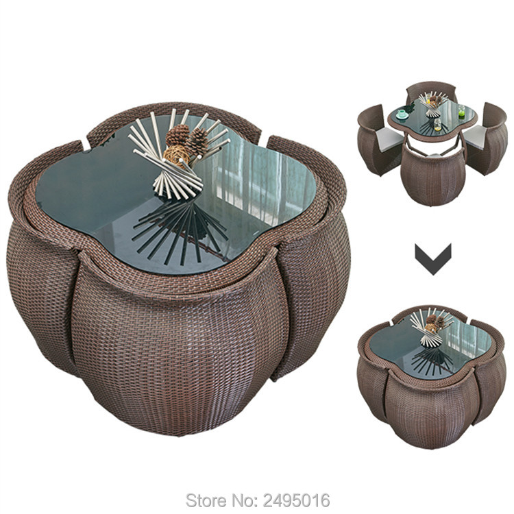 5 Pcs Patio Furniture Dining Set
