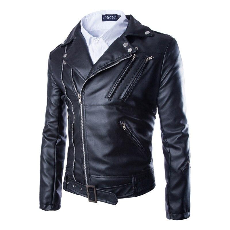 2019 moda casual masculino fino jaqueta de couro com zíper design dos homens jaqueta de couro do plutônio jaqueta de couro