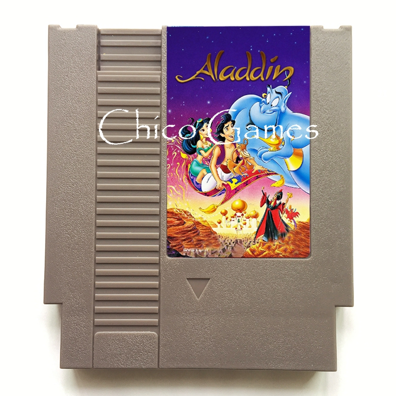 High Quality Aladdin 2 72 Pins Game Cartridge Card for 8 Bit Video Game Console Grey Shell Region Free
