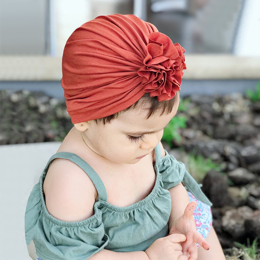 Ruoshui 16 Colors Baby Floral Caps Children Turban Cotton Infant Headbands  Stretchy Beanie Hat Newborn Hair Accessories Tiara