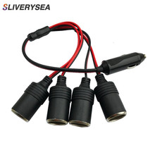 SLIVERYSEA Car Cigarette Lighter 12V 24V Power Charger Adapter 1 to 4 Way Socket Splitter Female Socket Plug Connector Adapter