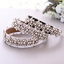TRiXY S269-FG Vintage Shiny Crystal Wide Headband Rhinestone Baroque Hairband  Women Luxury Party Hair Jewelry Wedding Hair Hoop