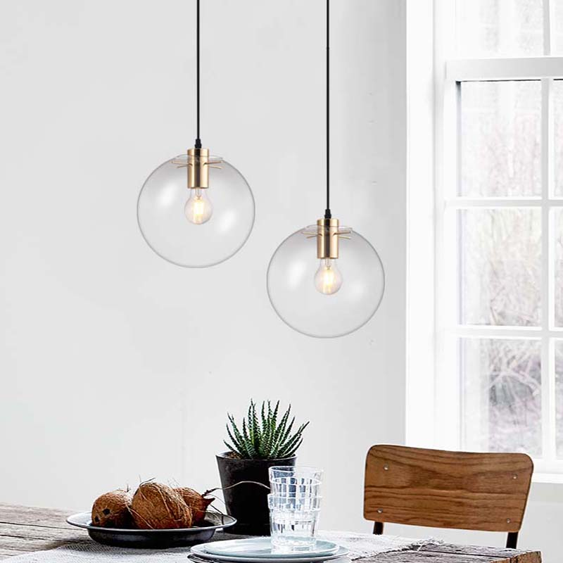 DX Modern Living Room/Bedroom/Minimalist/Restaurant Pendant Light Nordic Clothing Decoration Glass Ball Hanging Lights