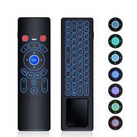 TTVBOX T6 Più Retroilluminato 2.4GHz mouse Dell'aria mini Wireless Keyboard & touchpad Telecomando per Android TV Box mini proiettore PC