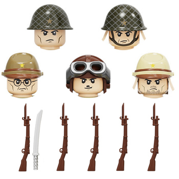 2017 new kazi 4pcs building blocks wolf tooth field team militray army weapons compatible with legoe solider bricks toys WW2 Military Japan Army Soldiers Weapons building blocks Military Weapons Bayonet Guns Helmets Bricks Weapons Parts blocks toys