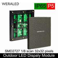 Outdoor P5 SMD Full Color LED Video Wall Module 160*160mm 32*32 Pixels P5 Outdoor LED Signboard RGB Panel Unit LED Module