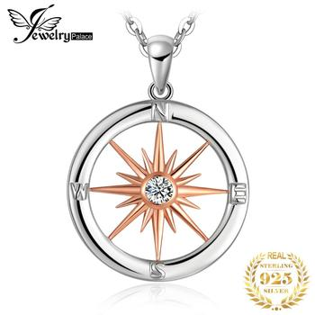JewelryPalace Cubic Zirconia CZ Sun Compass Pendant Necklace Without Chain 925 Sterling Silver Pendant Fashion Jewelry Making jewelrypalace cubic zirconia cz sun compass pendant necklace without chain 925 sterling silver pendant fashion jewelry making